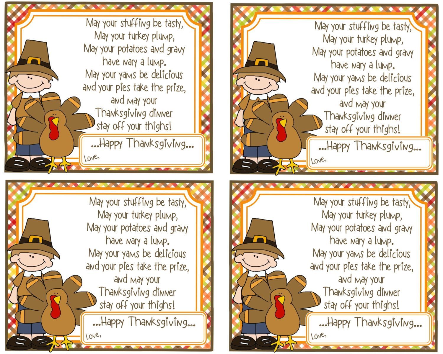 Funny Little Thanksgiving Poem Is Great To Send To Friends