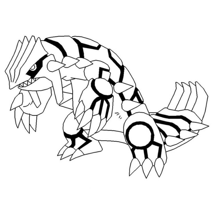 groudon-coloring-pagesjpg (750×750) Pokemon kleurplaten Pinterest - fresh coloring pictures of pokemon legendaries