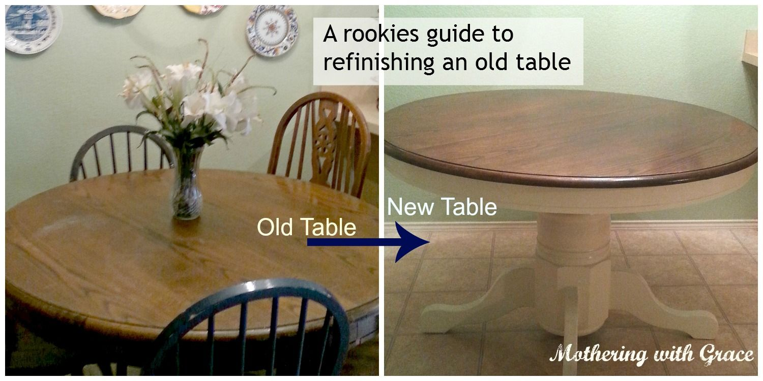 Refinished Table and chairs kitchen Refinishing