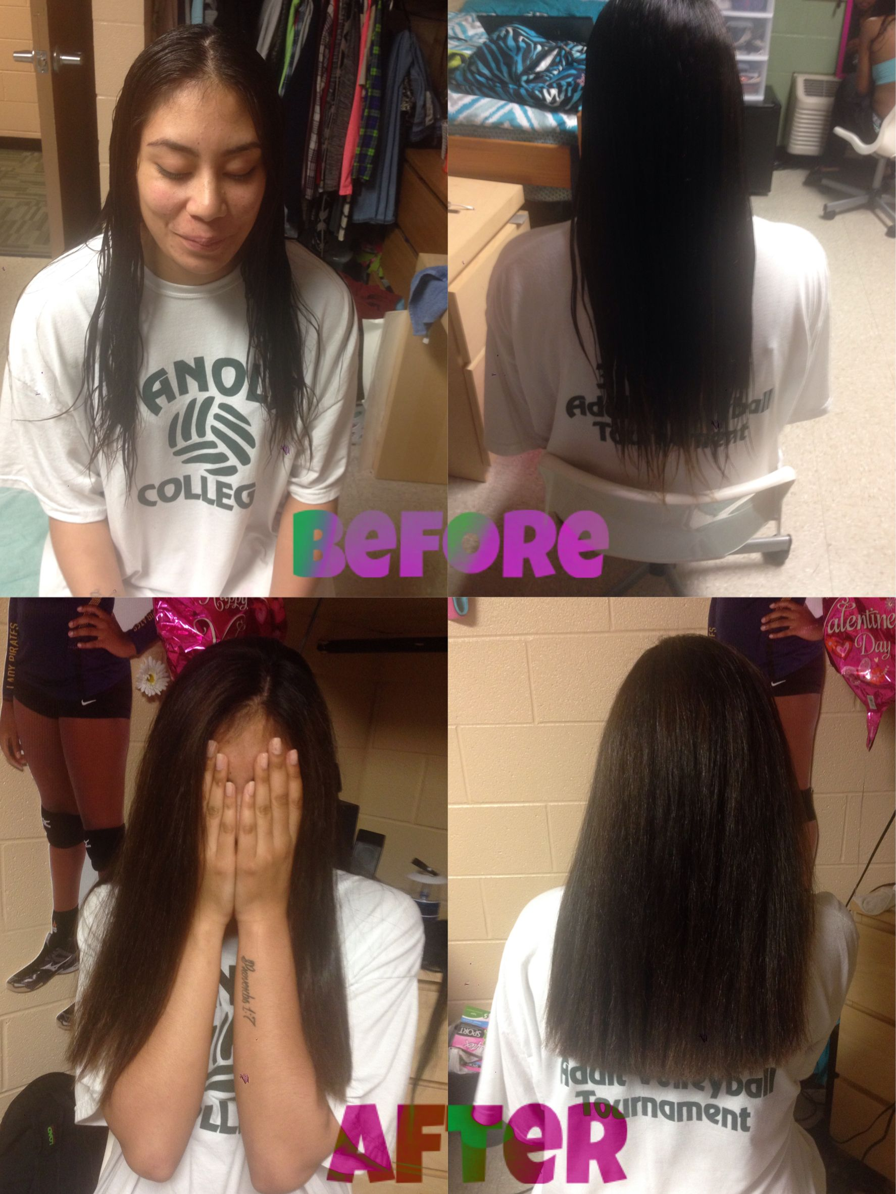 Before And After A Haircut Took Off 6 Inches Of Damaged Hair A
