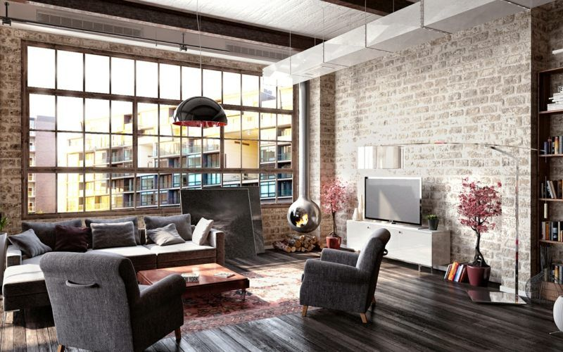 Industrial Loft On Interior Design Served