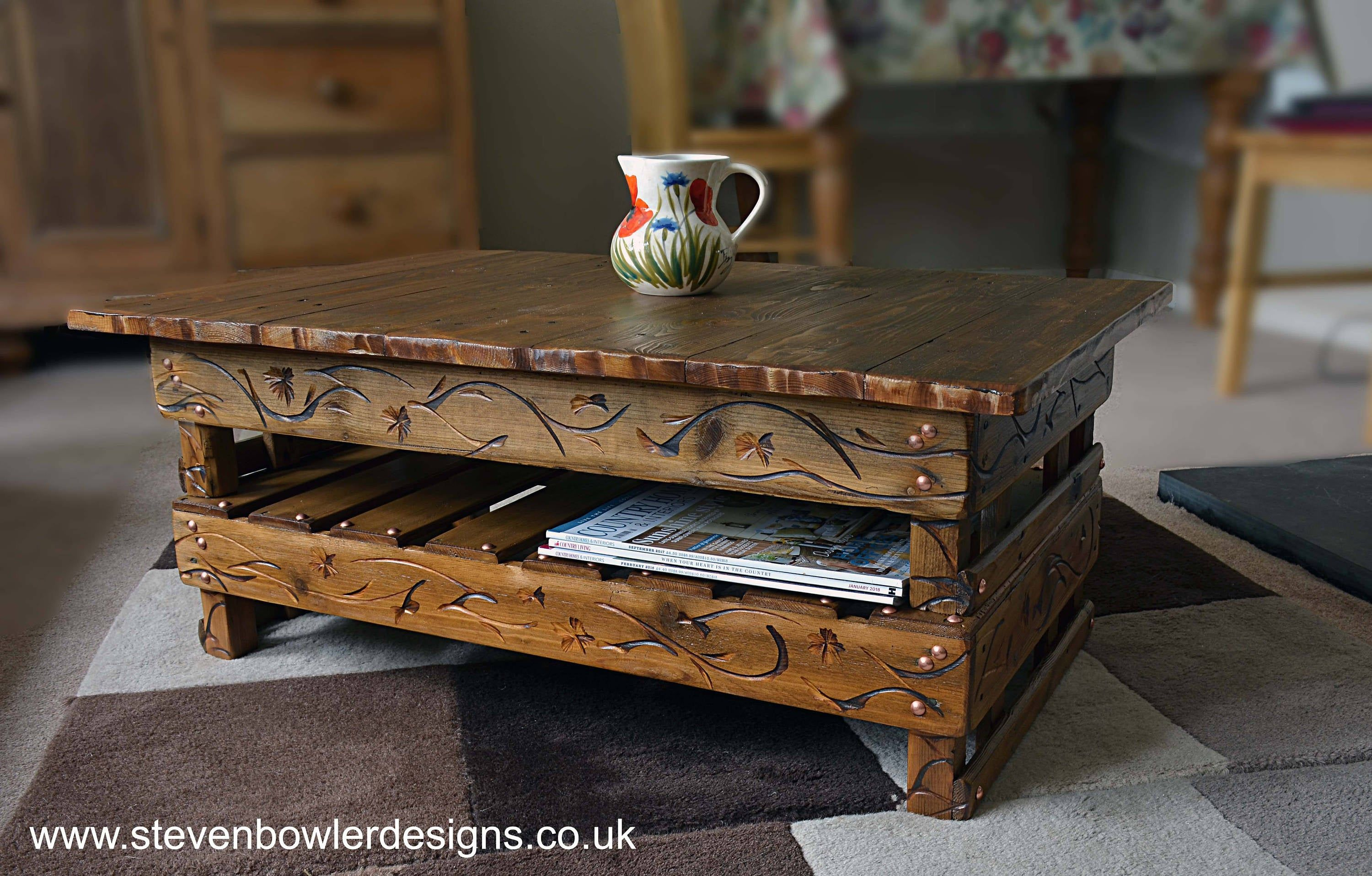 Country Cottage Farmhouse Reclaimed Wood Coffee Table Medium Oak Stain Handy Under Shelf St Reclaimed Wood Coffee Table Coffee Table Wood Rustic Reclaimed Wood [ 1916 x 3000 Pixel ]