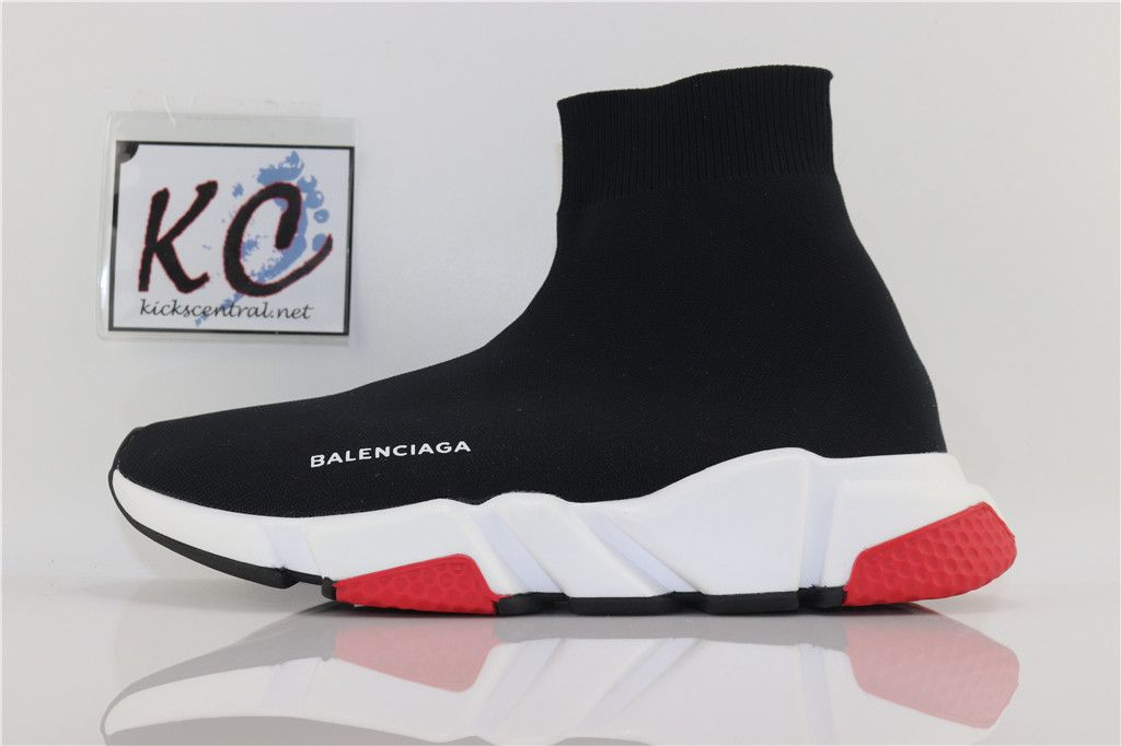 SAINTPABLO AUTH BNIB BALENCIAGA SPEED TRAINER Black and Red ... bfcc4f4d6