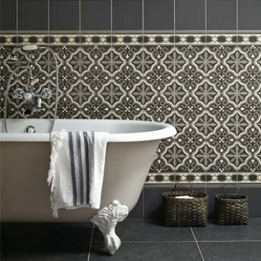 Bathroom Stall In Spanish the look of classic encaustic wall tiles without the hassles