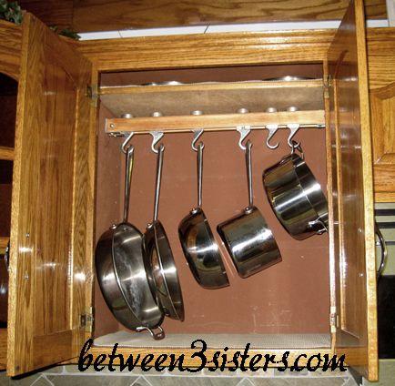 How To Install An In Cupboard Pot Rack Between 3 Sistersbetween Sisters