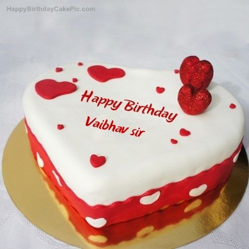 Ice Heart Birthday Cake For Vaibhav Sir 500x500