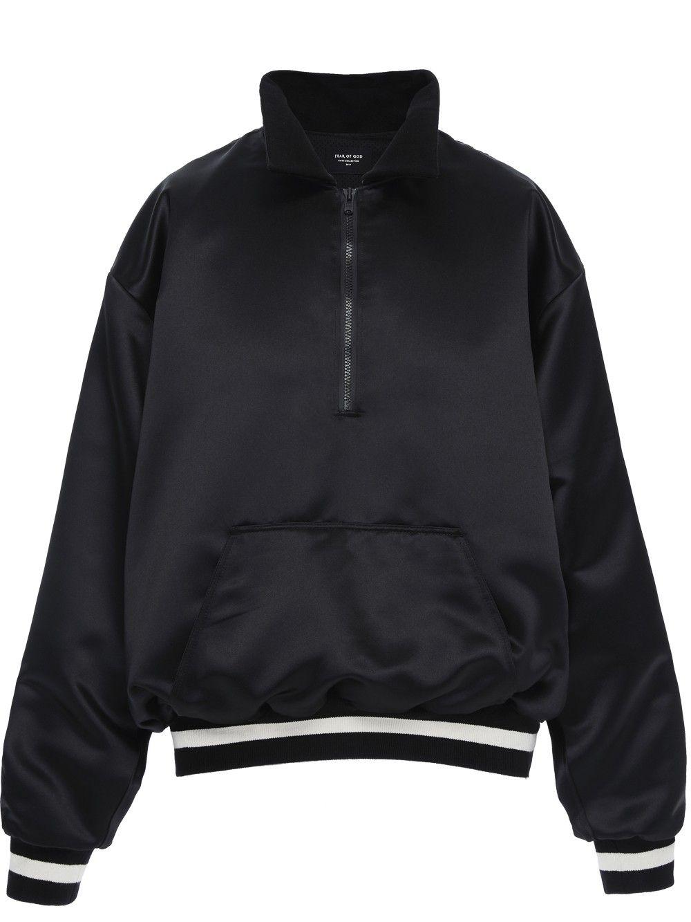 46674ca1b09b FEAR OF GOD Satin Half-Zip Coaches Jacket. #fearofgod #cloth ...