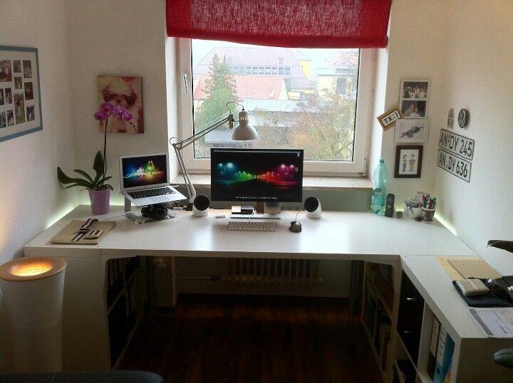 Bedroom workspace | Scrivania, Arredamento, Ufficio