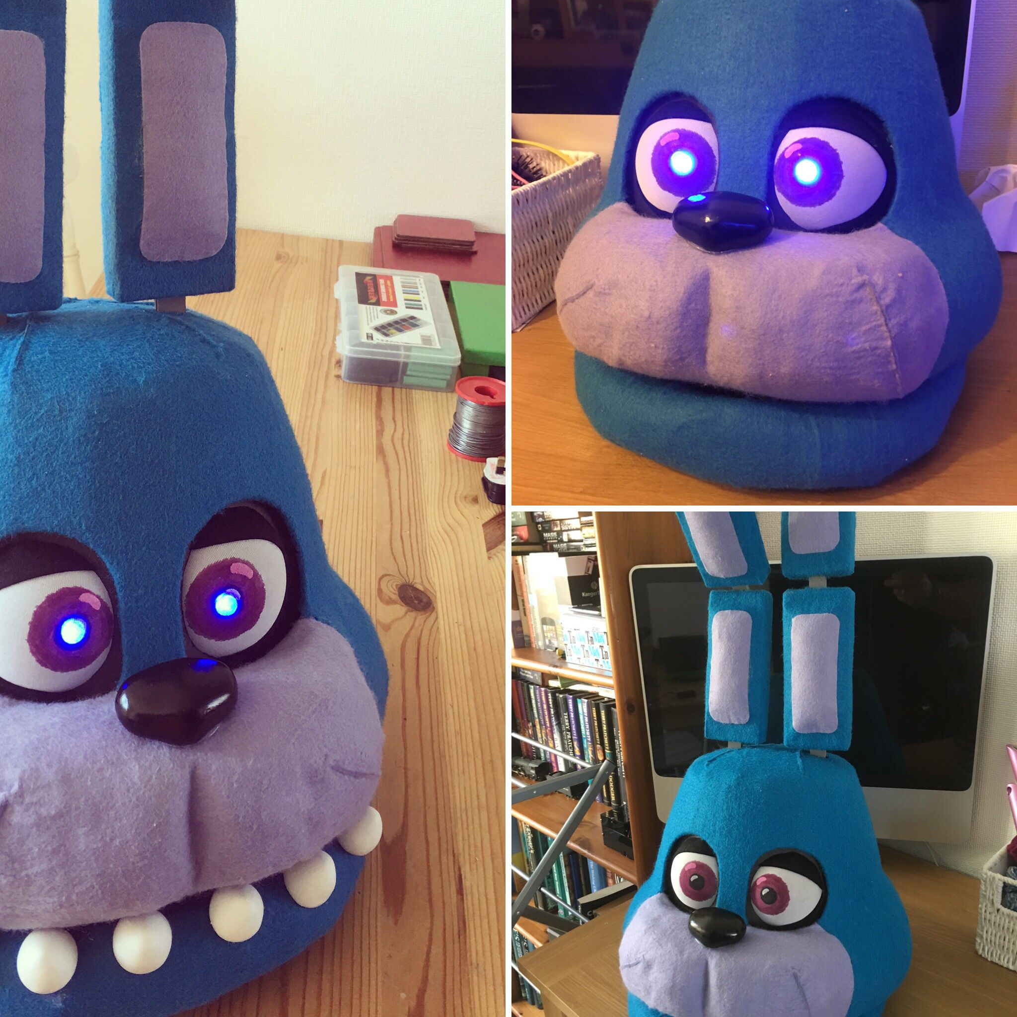 Fnaf bonnie costume for sale - Bonnie Mask From Five Nights At Freddie S Eyes Light Up And Jaw Opens And Closes
