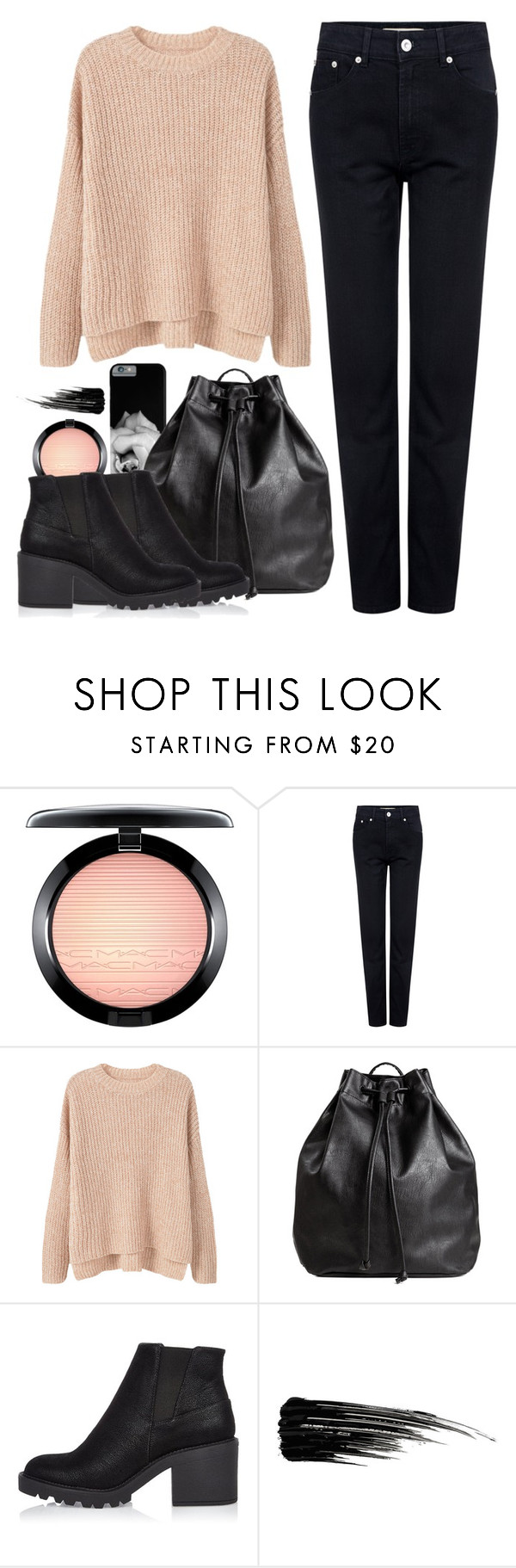 OOTD - Winter Casual by by-jwp on Polyvore featuring MANGO, Être Cécile, River Island, H&M, MAC Cosmetics and Urban Decay