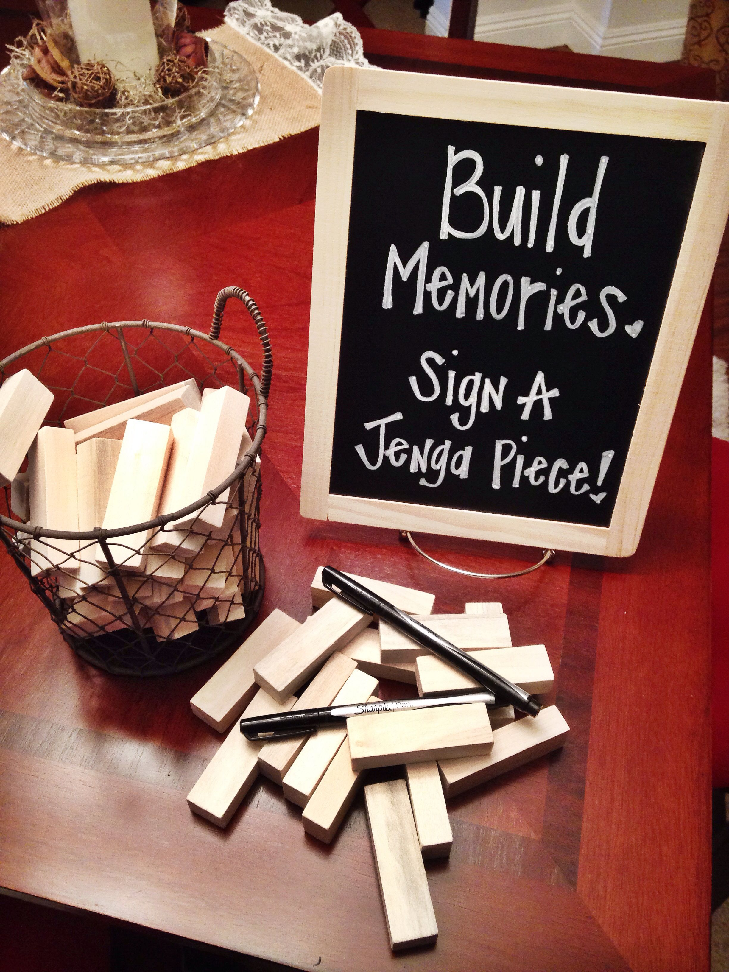 Sign in Jenga game for my best friends bridal shower