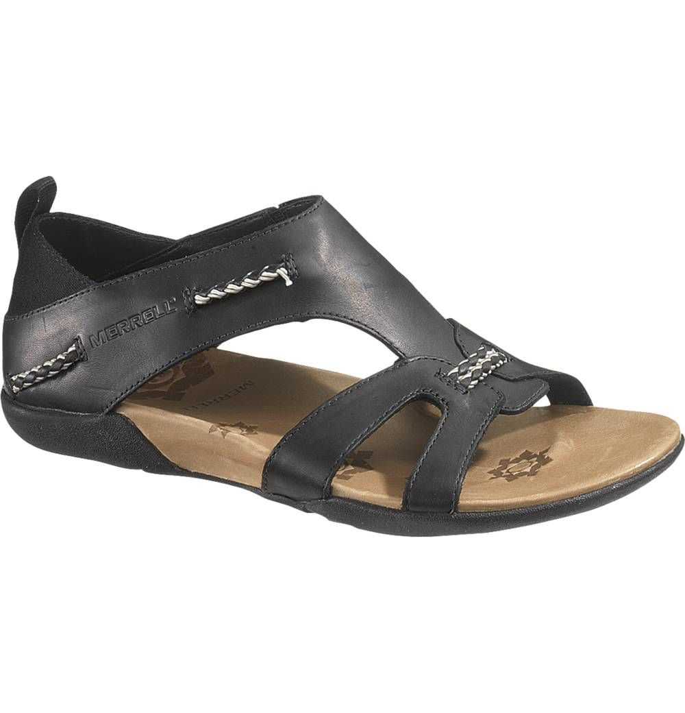 Designed for the adventurous woman, the Merrell Flaxen can take you from  trail to trail in serious style. This sandal features full leather uppers,  ...