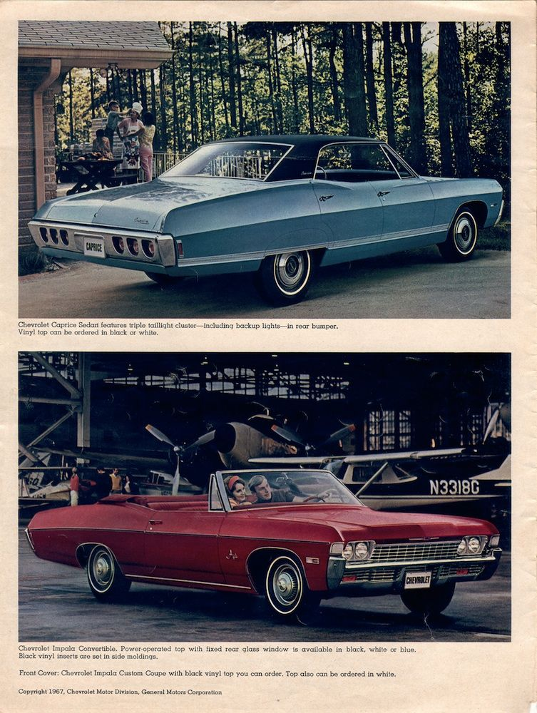 Gm 1968 Chevrolet Sales Brochure Chevrolet Classic Cars Chevrolet Impala