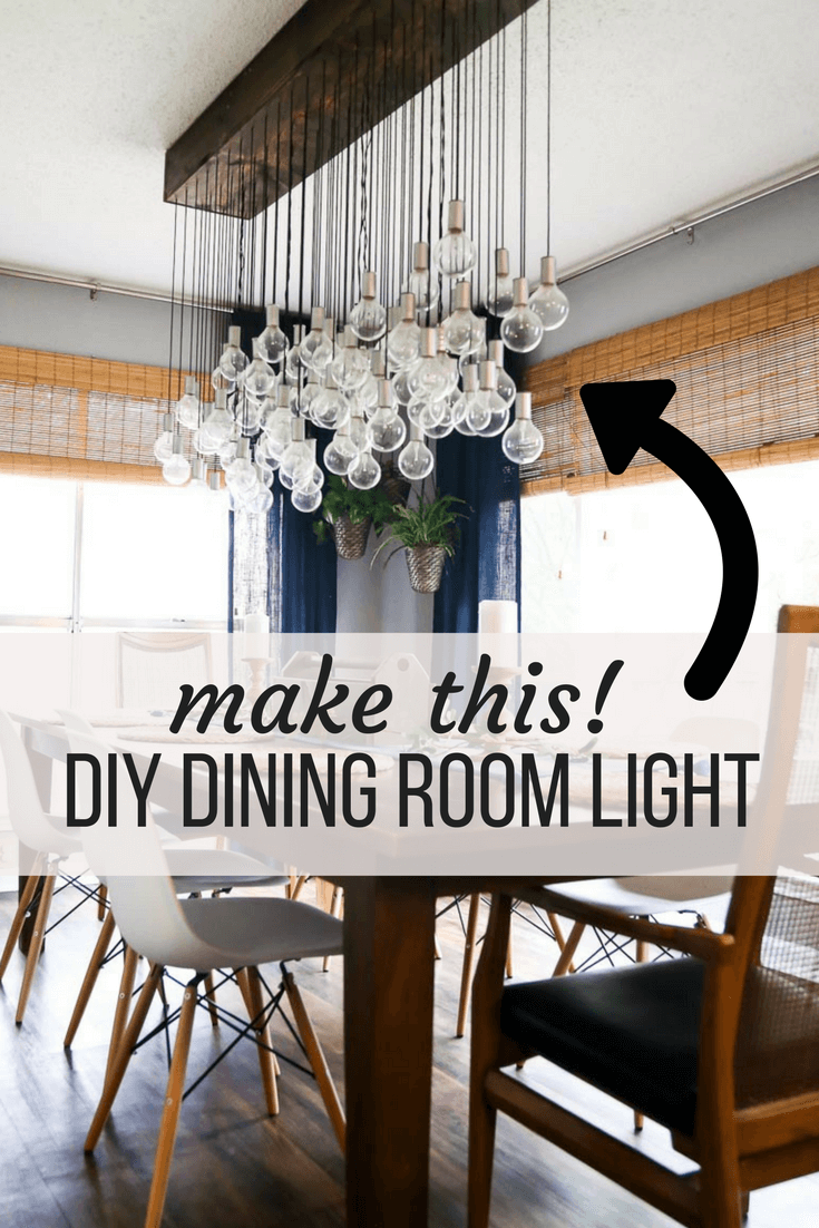 How To Make A Gorgeous Diy Dining Room Light Diy Dining Room