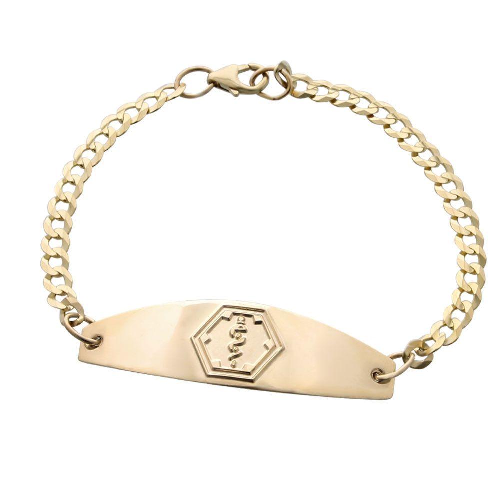 14k Gold Premier Bracelet Medical Alert Bracelet Womens Medical Bracelet Medic Alert Bracelets