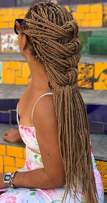 23 Best Long Box Braids Hairstyles and Ideas | StayGlam