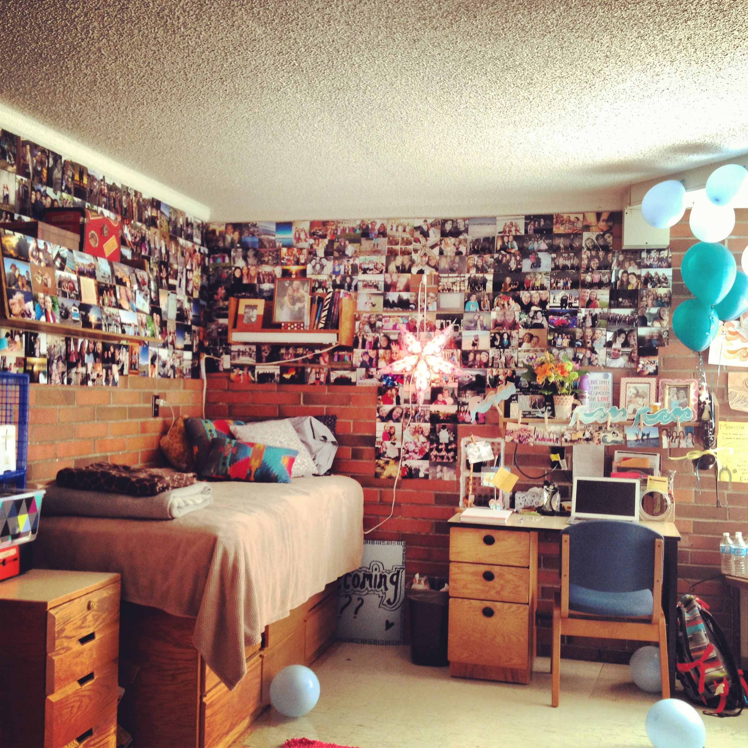College Dorm Cute Bed Rooms Pinterest Picture Walls