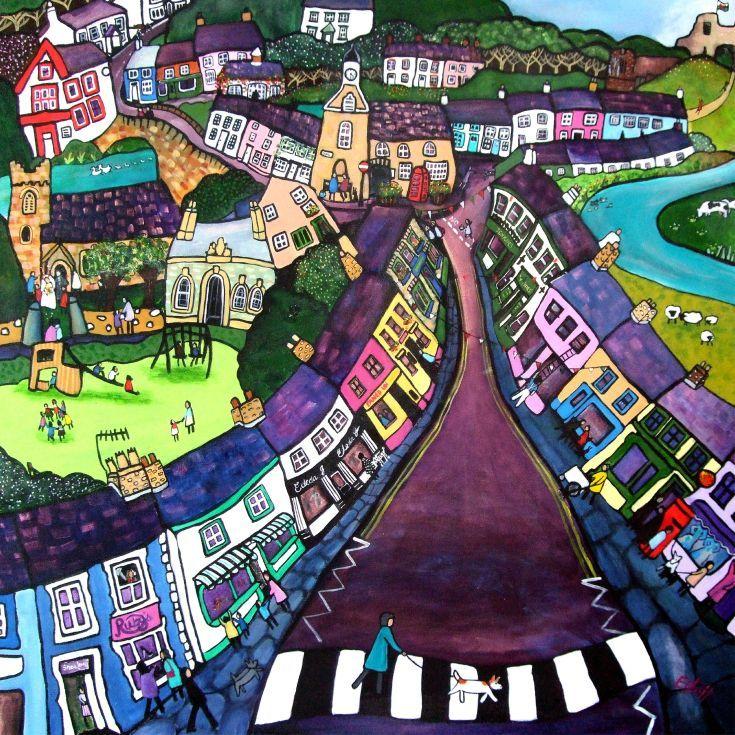 I Just Love This House: ARTFINDER: Newcastle Emlyn By Helen Elliott