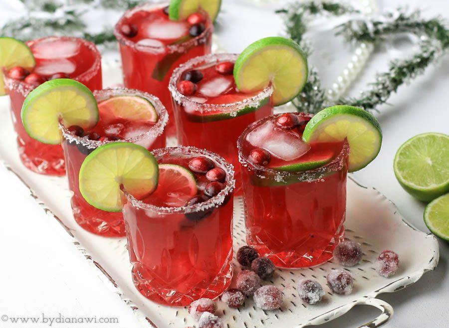 Frisk tranebær Margaritas drink med ingefær-vaniljesirup, www.bydianawi.com