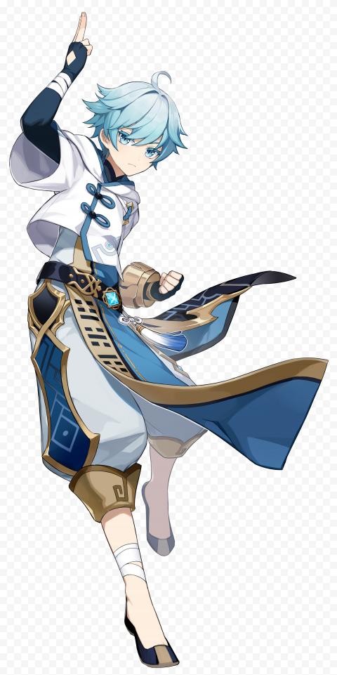 Hd Standing Chongyun Character Genshin Impact Png Character Design Impact Anime Elf