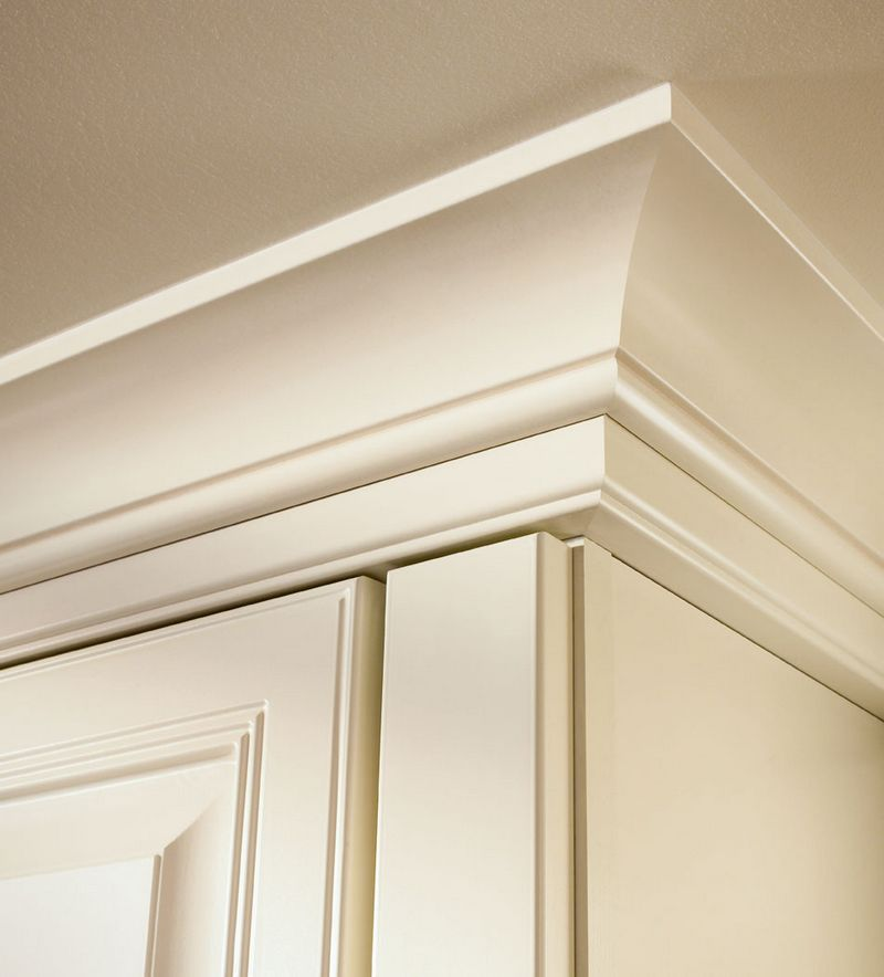 Large Cove Molding With Starter Molding In Dove White