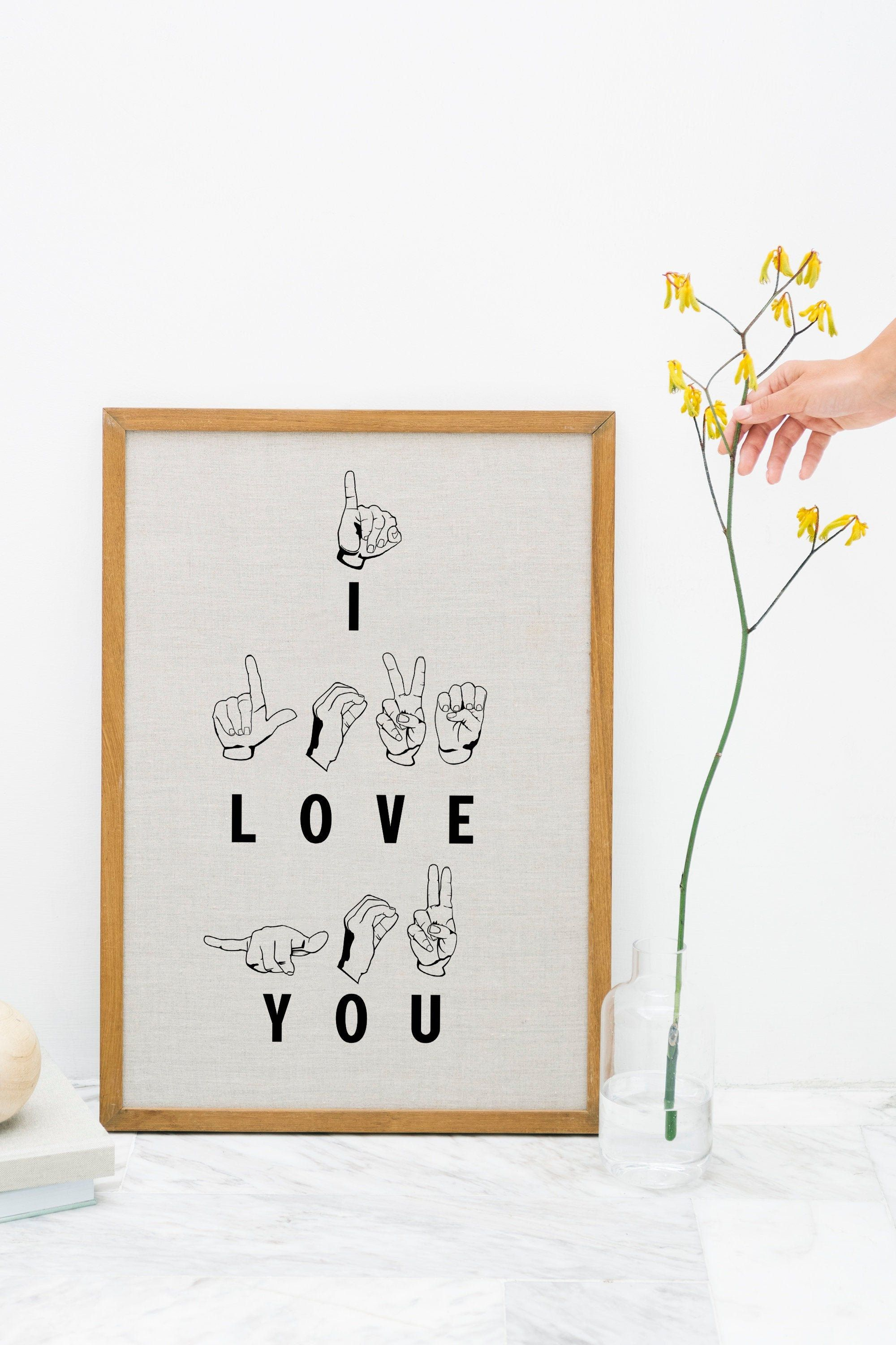 How To Say I Love You In American Sign Language