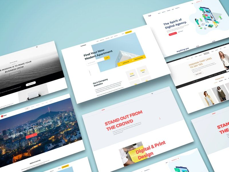 Perspective Web Screens Mockup In 2020 Perspective Web Web Design Projects Mockup