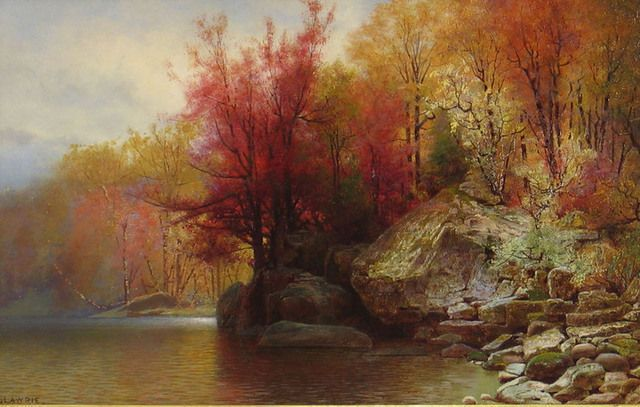 Autumn River Landscape by Alexander Lawrie