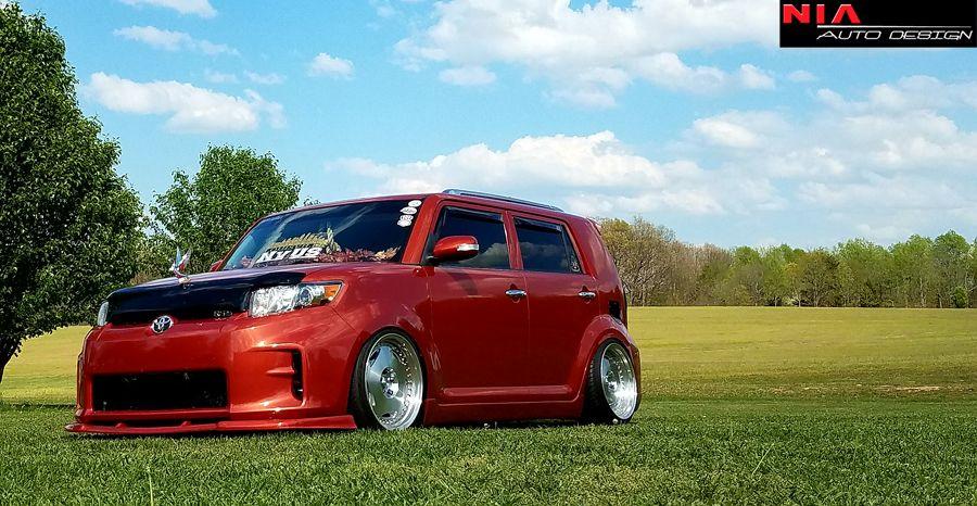"Red 4/"" Adjustable Rod Support for Toyota Scion Bumper Lip Diffuser Spoiler"