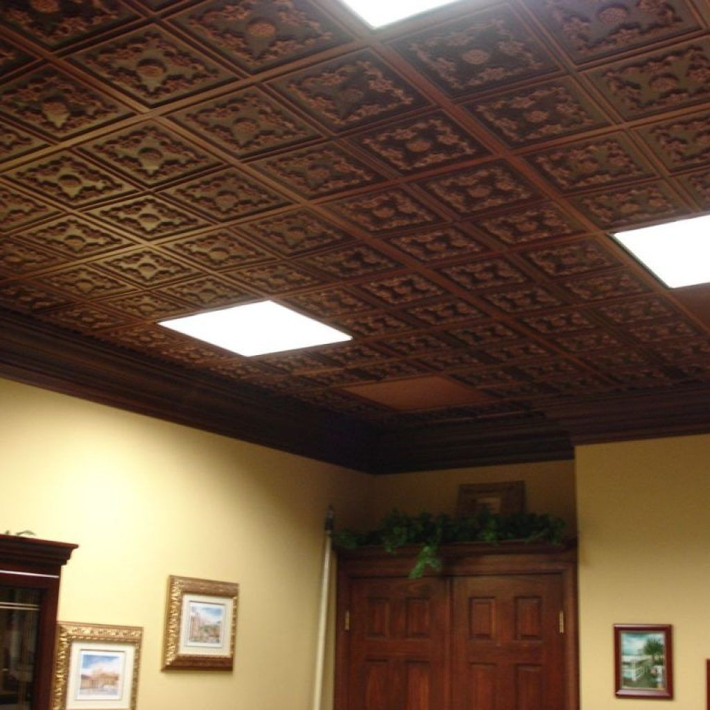 Faux Wood Drop Ceiling Tiles Metal Ceiling Tiles Faux Tin