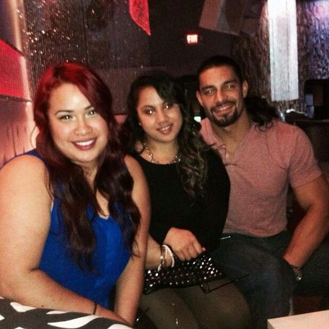 Roman Reigns aka Joe Anoa'i with his cousins
