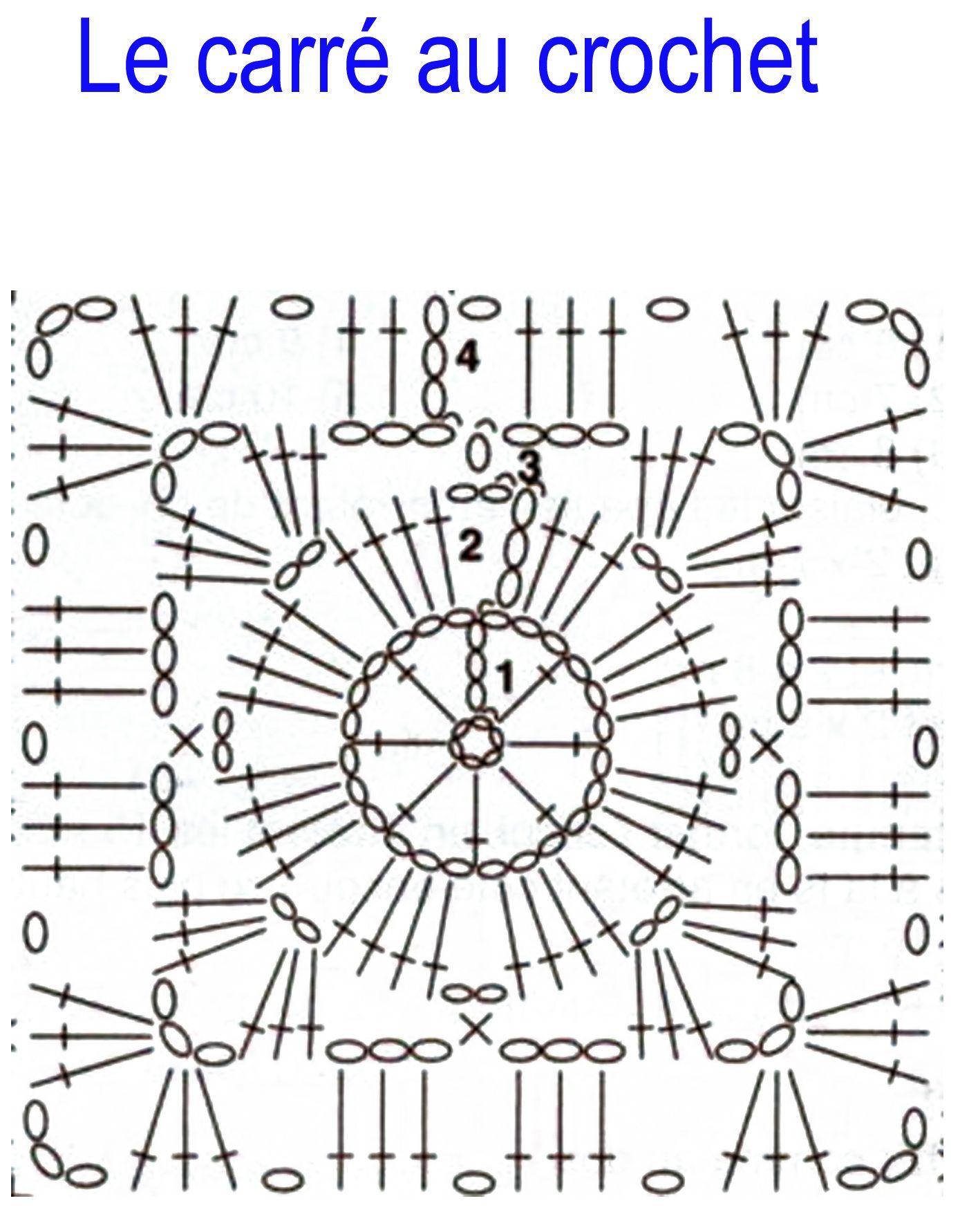 Carré Au Crochet Pour Couverture Xhb12 Napanonprofits
