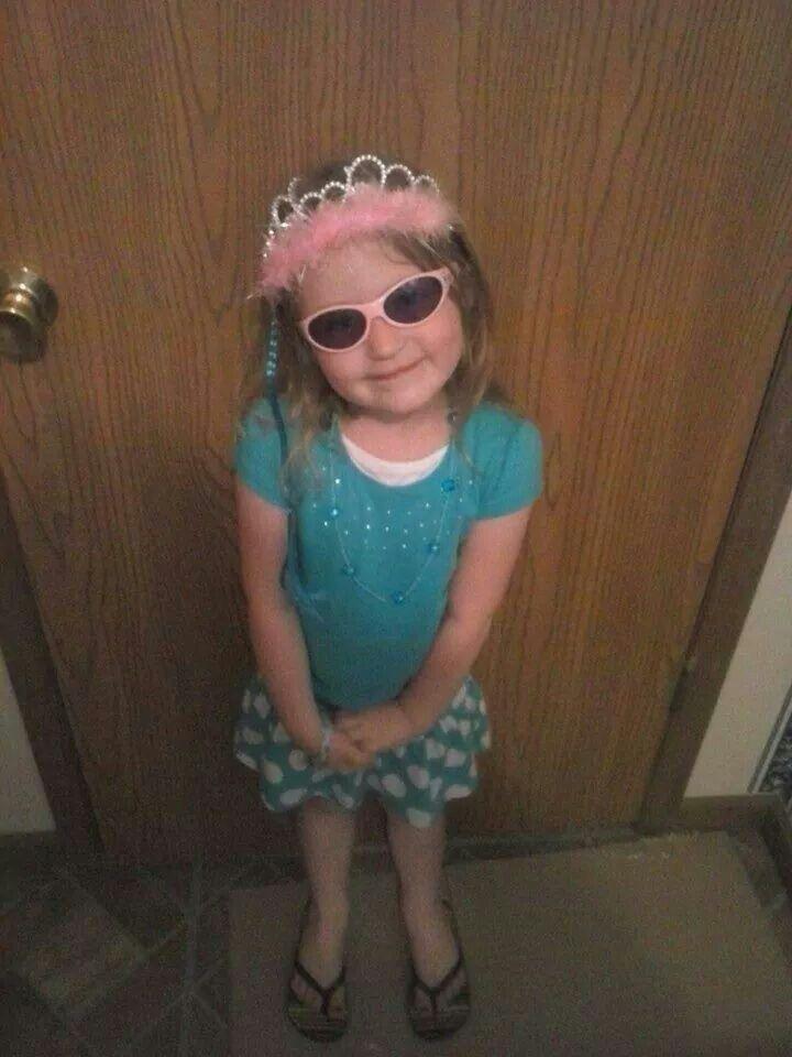 Kyleigh says she's ready for church.