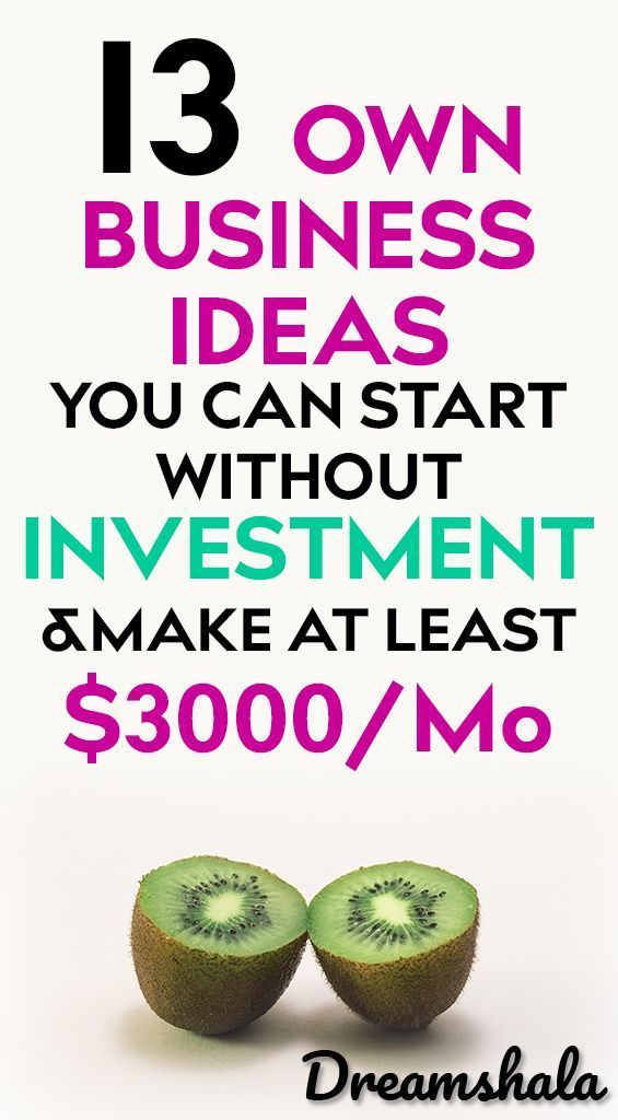 13 Own Business Ideas You Can Start Without Investment And