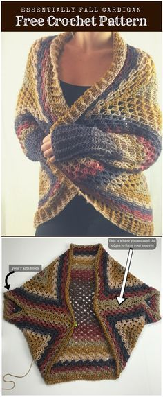 Free Crochet Cardigan Patterns To Try This Season #grannysquareponcho