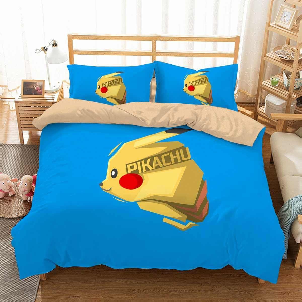 3d Customize Pikachu Bedding Set Duvet Cover Set Bedroom Set