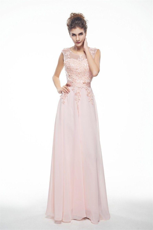 A-linie Abendkleid Rosa Lang   Abendkleid rosa, Abendkleid ...