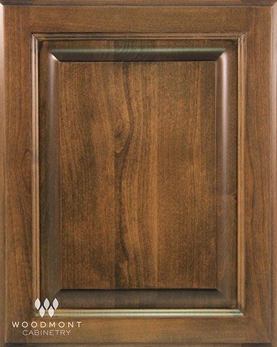 Woodmont Cabinet In Oxford Cherry Pecan Raised Panel Woodmont