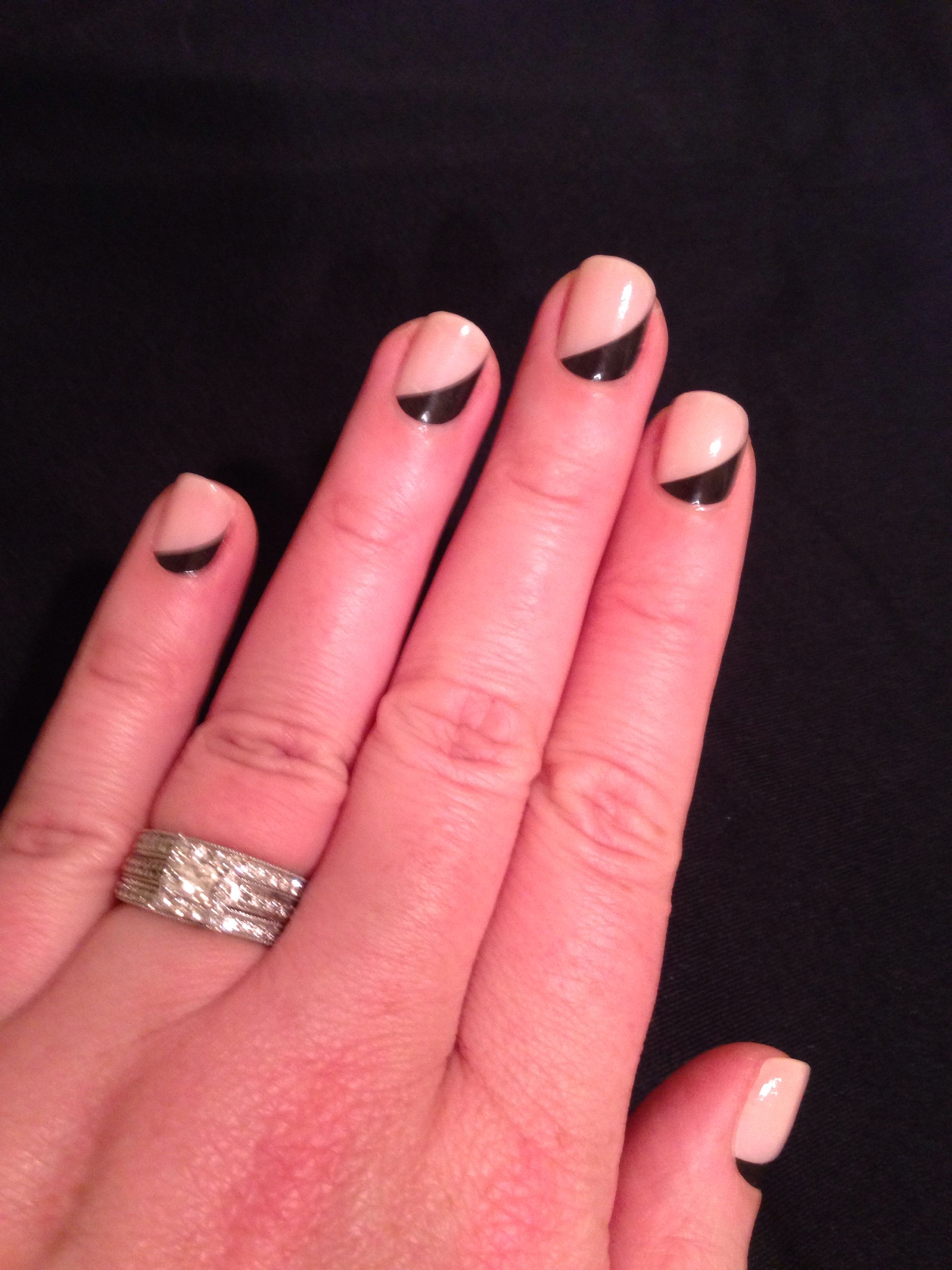 My reverse French nails | Nails | Pinterest | Reverse french nails ...