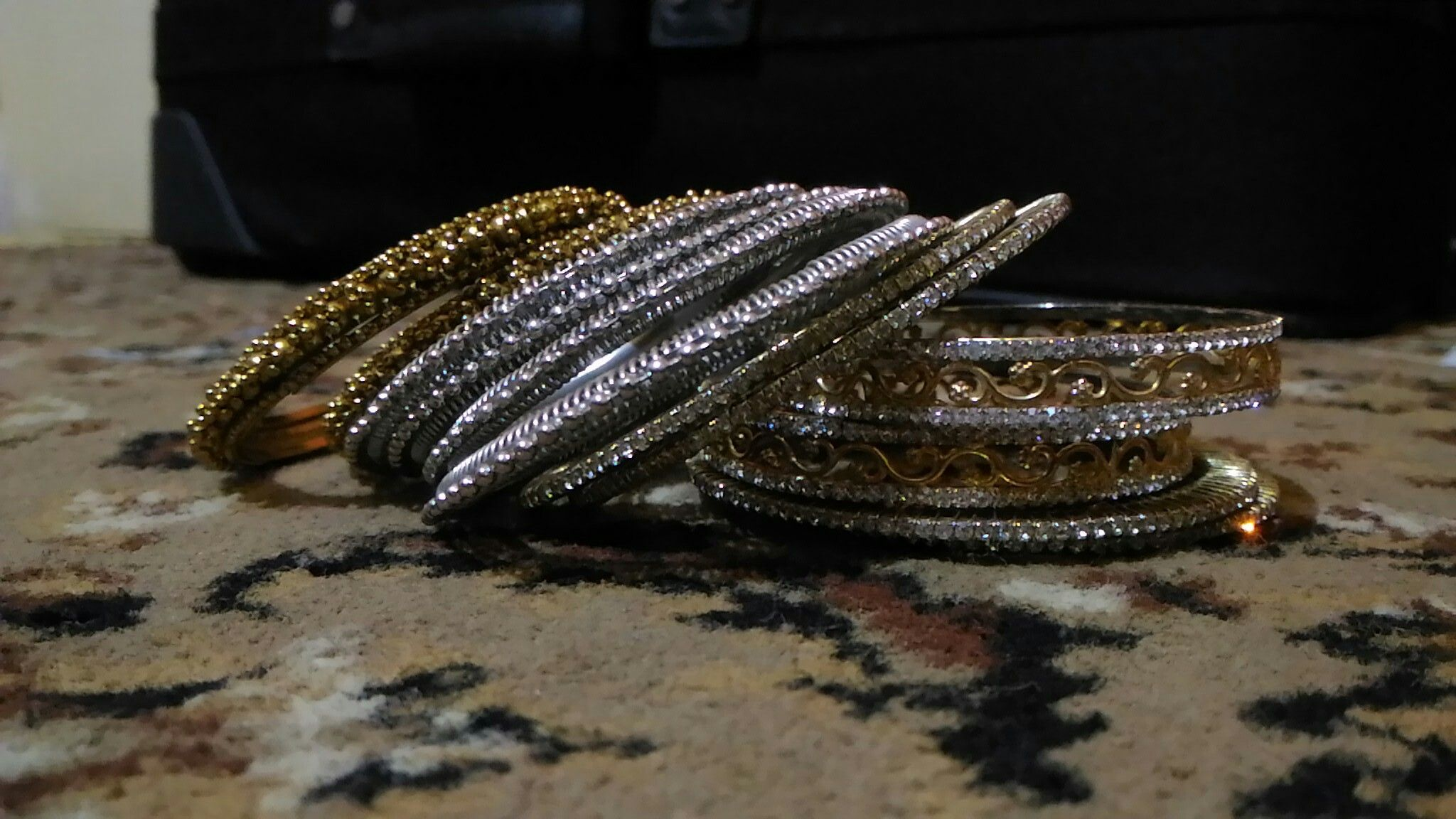 Gold silver bangles jewellery pinterest