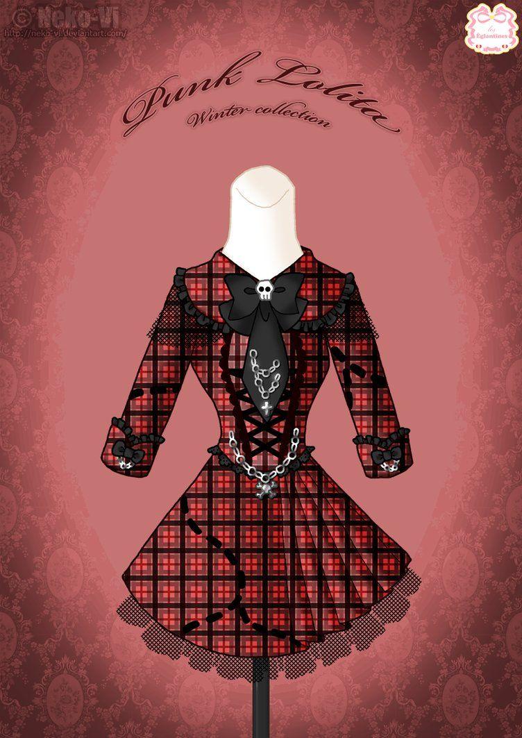 Punk Lolita Winter Dress by Neko-Vi on DeviantArt | lolita ...