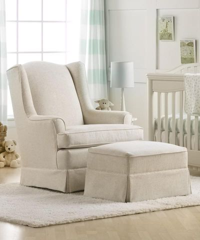 Astonishing Best Chairs Sutton Gliding Ottoman Linen Baby Girls Gamerscity Chair Design For Home Gamerscityorg