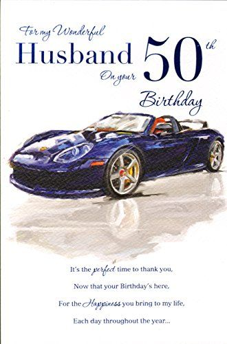 Husband 50th Birthday Card ICG Amazonco
