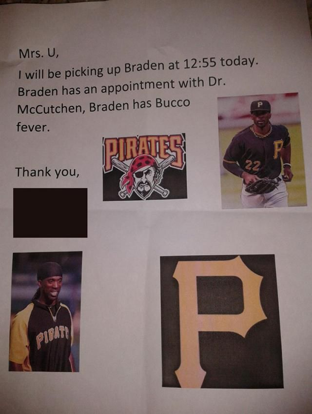 Student suffering from 'Bucco fever' needs to be excused