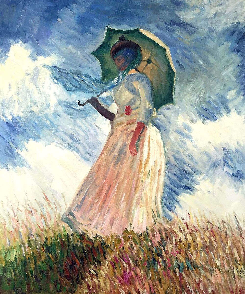 Monet - Woman with a Parasol (Facing Left)