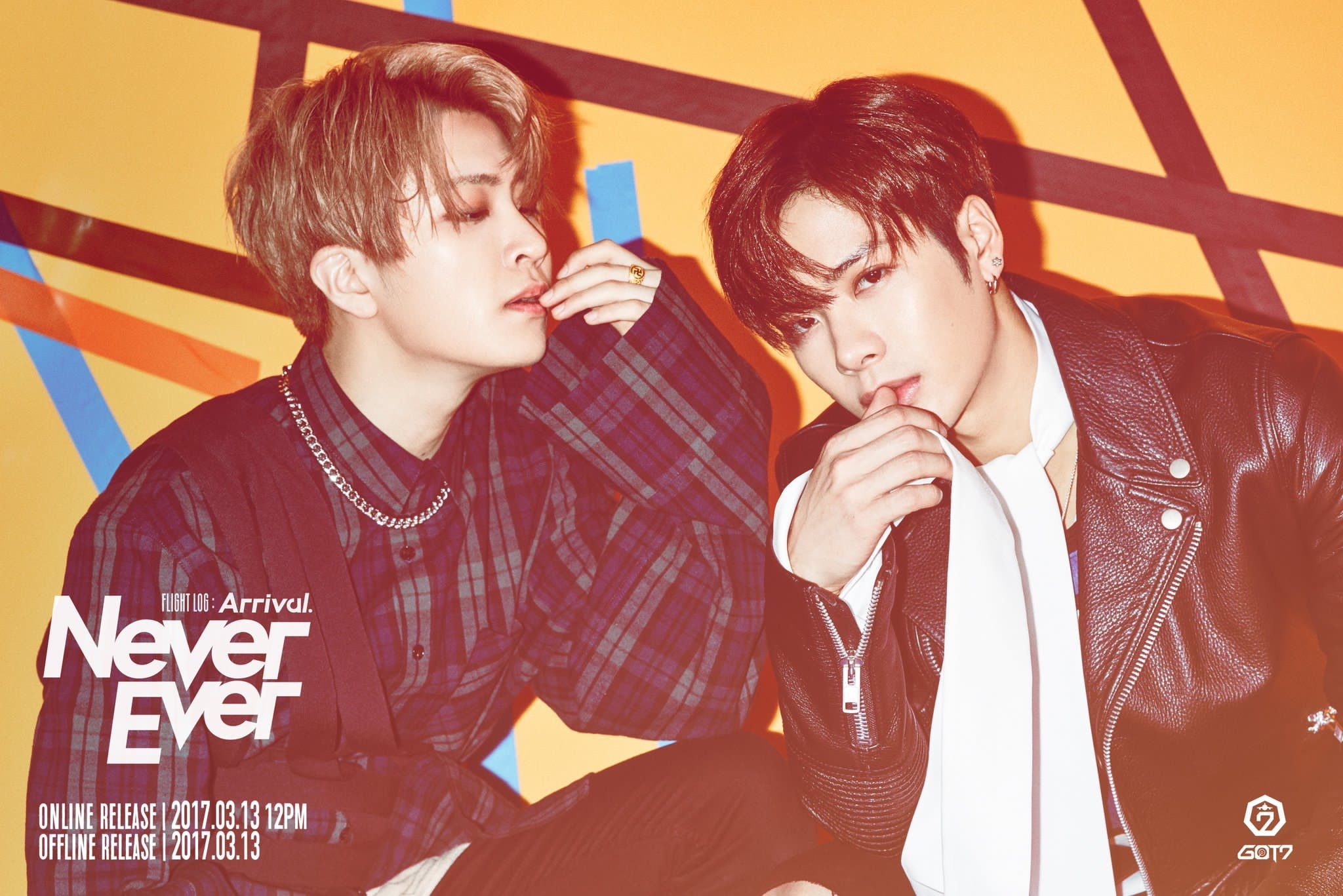 flight log arrival never ever #jacksonwang #youngjae #got7