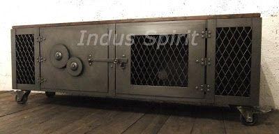 Boutique Indus Spirit Meuble Industriel Decoration Industrielle Meuble De Metier A Lyon Meuble Tv Design In Meuble Tv Design Design Industriel Tv Design