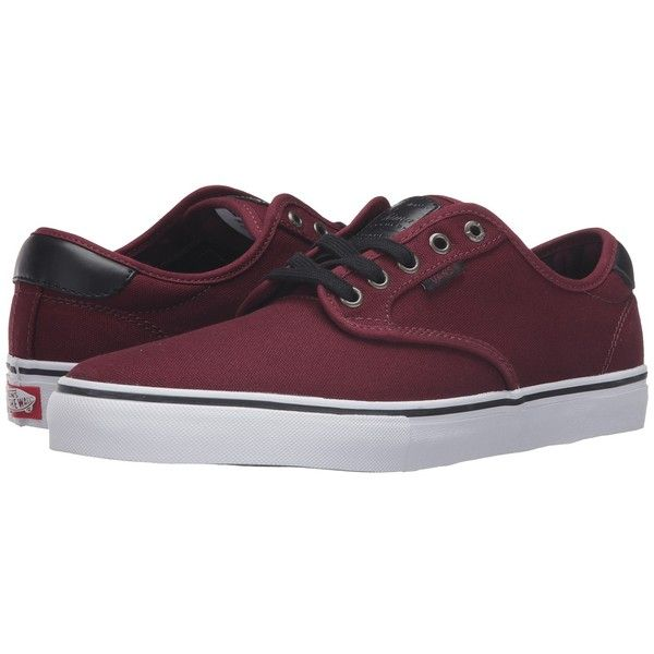 Vans Chima Pro ((Plaid) Port) Men's Skate Shoes ($65) ❤ liked on Polyvore featuring men's fashion, men's shoes, men's sneakers, vans mens shoes, mens plaid shoes, mens shoes, mens skate shoes and mens sneakers