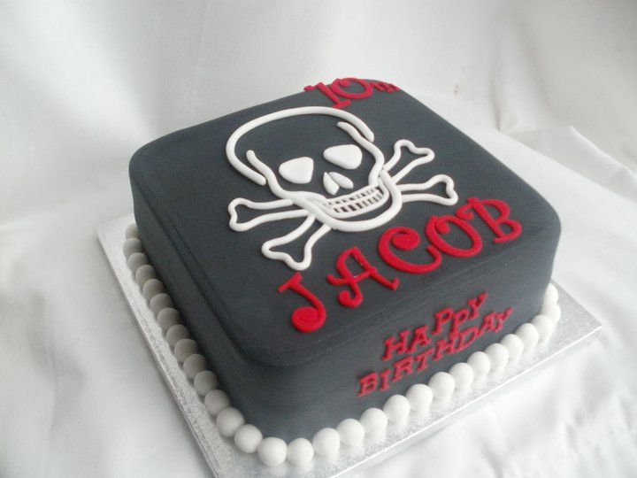 Fantastic Skull Birthday Cake Black Skull And Bones Birthday Cake Cakes Funny Birthday Cards Online Barepcheapnameinfo