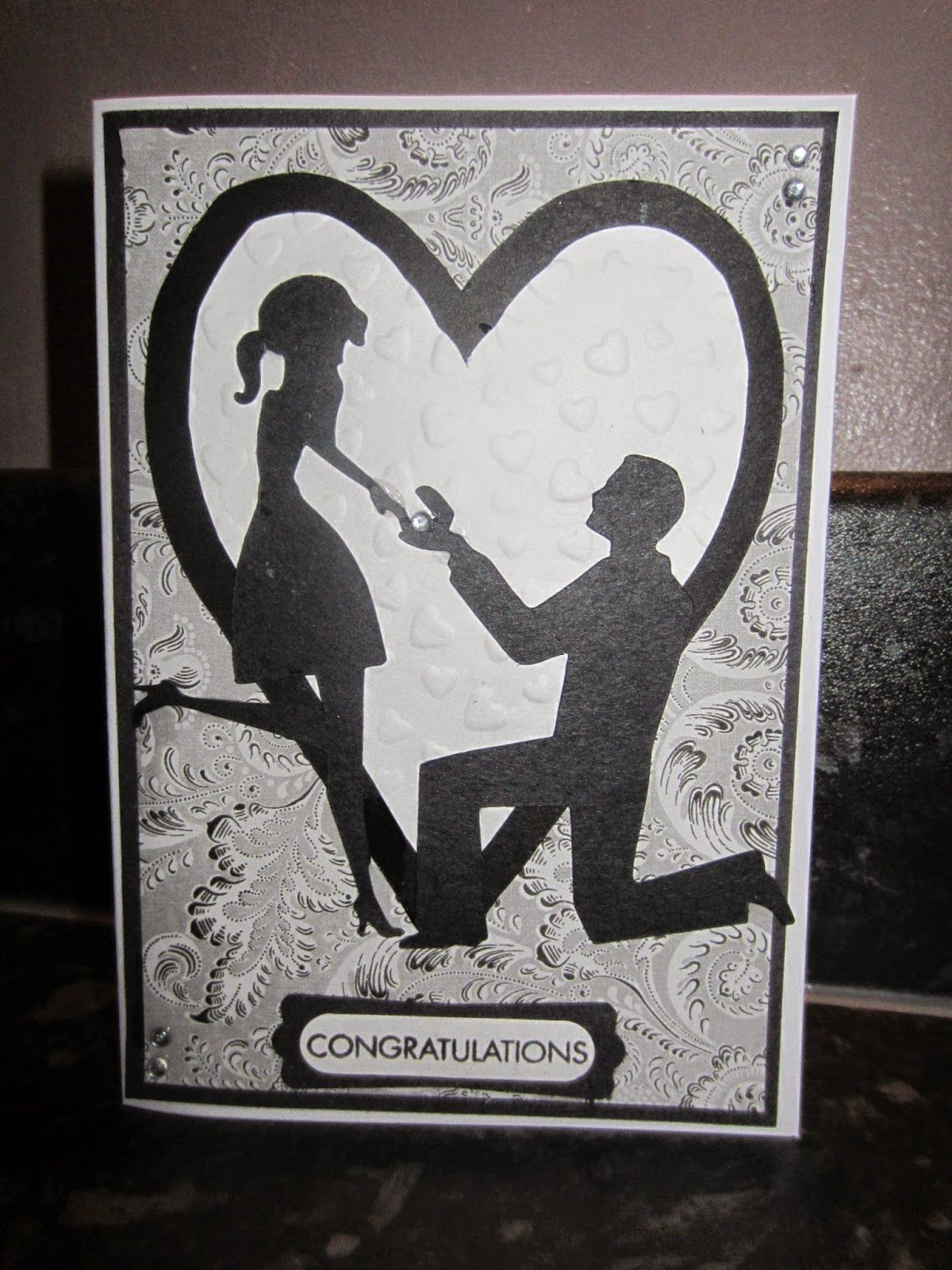 Engagement Card, Craft Robo, Stampin Up